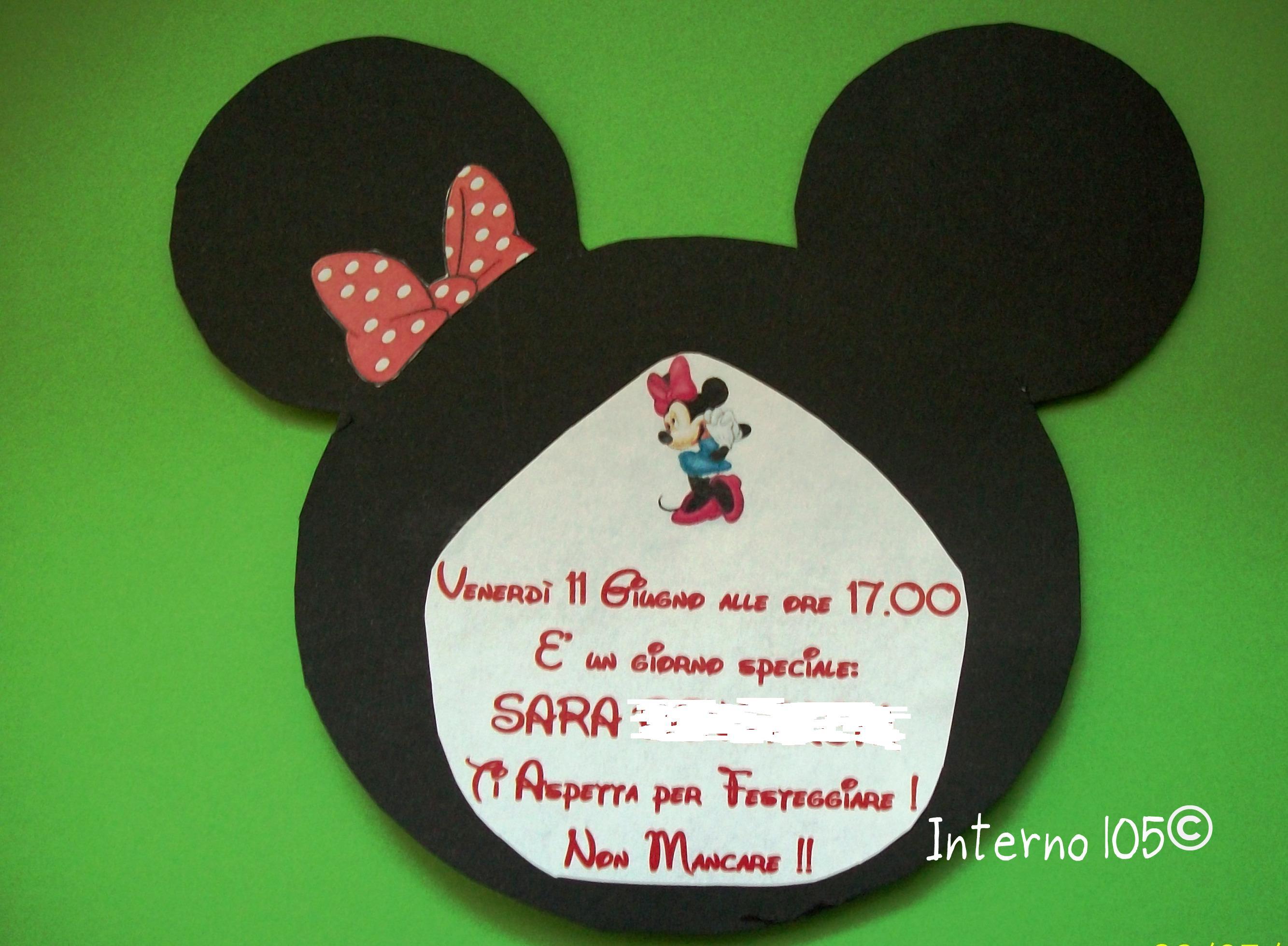Festa A Tema Gli Inviti Di Minnie Interno 105