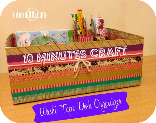 washi tape desk organizer 1